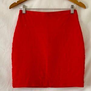 Express Bright Orange Bandage Mini Skirt Size 4